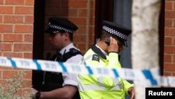 星期五倫敦地鐵列車爆炸案現場。