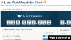 미국 인구조사국 웹사이트 통계.
