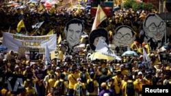 ກຸ່ມນິຍົມປະຊາທິປະໄຕ Bersih ໂຮມຊຸມນຸມປະທ້ວງ ຮຽກຮ້ອງໃຫ້ນາຍົກລັດຖະມົນຕີມາເລເຊຍ ທ່ານ Najib Abdul Razak ລາອອກ. (19 ພະຈິກ 2016)