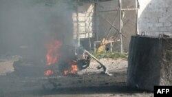 Aerodrom u Mogadišu, Somaliji posle napada pripadnika pobunjeničke organizacije al-Šabab, 9. septembra 2010.