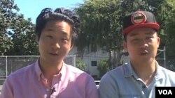 馮締文(右)和馮締雄兄弟