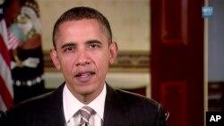 جمهور رئیس اوباما د اونیزې وینا په حال کې