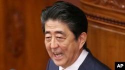 日本首相安倍晋三2019年1月28日在国会发表施政报告