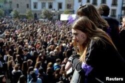 Demonstracije za prava žena, Bilbao, Španija, 8. mart 2018.