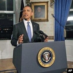 奥巴马总统在预算协议达成后发表讲话