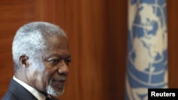U.N.-Arab League special envoy Kofi Annan, United Nations European headquarters, Geneva, June 5, 2012 (file photo).