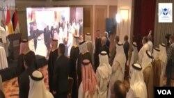 عکس گرفته شده از ویدیوی اندیشکدە «مرکز صلح و ارتباطات» مستقر در نیویورک در شهر اربیل کردستان عراق؛ جمعه ٢ مهر ۱۴۰۰