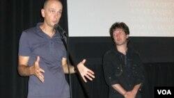 Сергей Лобан и Сергей Кузьменко на встрече со зрителями в Нью-Йорке. Photo by Oleg Sulkin