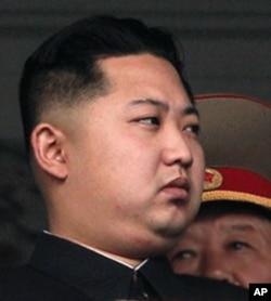 朝鲜领导人金正日钦点的接班人金正恩
