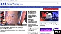 VOA Cambodia.com New Website Homepage