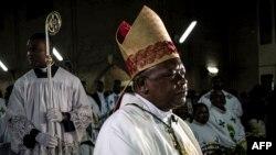 Episkopo ya lokumu ya Kinshasa, Mgr Frindolin Ambongo na misa ya Noel na Kinshasa, 24 décembre 204.