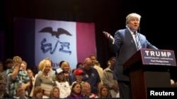 Le candidat Républicain Donald Trump en campagne dans l'Iowa