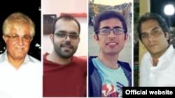 امین افشار نادری (پیراهن قرمز) یکی از چهار مسیحی که به تازگی در ایران محکوم شده است.