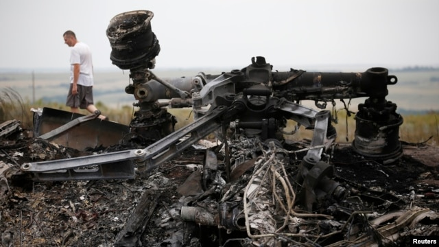 World leaders demanded an international investigation into the shooting down of Malaysia Airlines Flight 17, which came down near Grabovo in eastern Ukraine, July 18, 2014