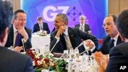 Các nhà lãnh đạo G-7 trong phiên họp tại Brussels, ngày 5/6/2014.
