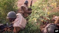 Des soldats de l'armé burkinabè, 29 septembre 2015.