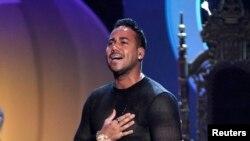 El cantante Romeo Santos en los Premios Billboard Latinos de 2015 en Coral Gables, Florida. 30 de abril de 2015.