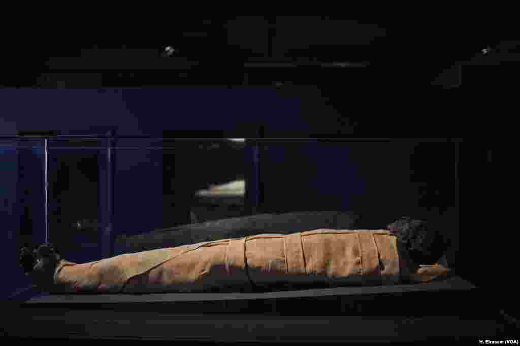 On World Heritage Day, the Mummy of Ahmose, 18th dynasty, on display in Luxor Museum, Egypt. Friday, April 20, 2018.