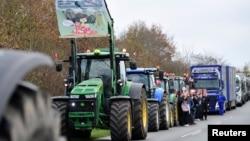 Mink farmers protest in Holstebro, Jutland, Denmark November 6, 2020.