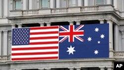 美國和澳大利亞國旗
