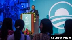 "Mantan Presiden AS Barack Obama berbicara di depan 21 peserta ""Asia-Pasific Leaders Program 2019"" di Hawaii, Amerika (Obama Foundation)."