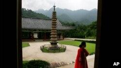 북한 묘향산 보현사. (자료사진)