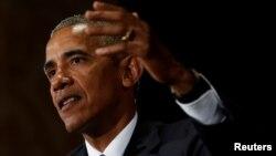 Tổng thống Mỹ Barack Obama tại cuộc họp báo sau khi kết thúc Hội nghị Thượng đỉnh G-20 ở Hàng Châu, Trung Quốc, ngày 5 tháng 9 năm 2016.