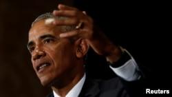 5일 중국 항저우에서 주요20개국(G20) 정상회의 결산 기자회견을 진행하고 있는 바락 오바마 미국 대통령. 이날 미국의 노동절을 맞아 오바마 대통령은 백악관을 통해 미 전역의 노동자들에게 공개 서한을 발표했다.