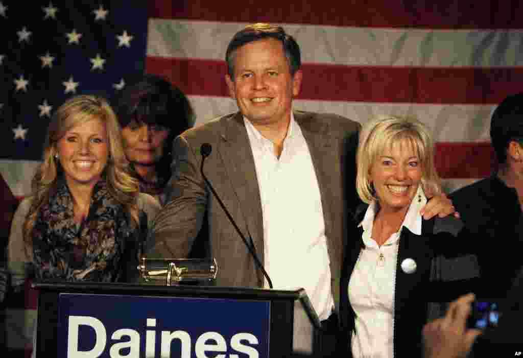 Sen.-elect Steve Daines (R-MT) in Bozeman, Montana, Nov. 4, 2014.