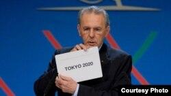 国际奥委会主席罗格宣布东京获得2020年夏季奥运会的承办权(网络截图)