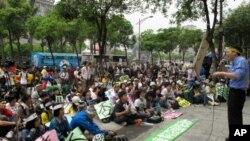 抗议活动现场