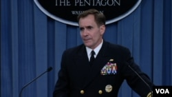FILE - Pentagon spokesman Rear Admiral John Kirby.