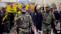 تشییع جنازه چند ستیزه جوی عضو گروه نجبا در نجف - عراق