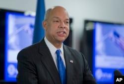 FILE - Homeland Security Secretary Jeh Johnson in Washington.