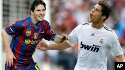 Lionel Messi, do Barcelona vs. Cristiano Ronaldo, do Real Madrid.