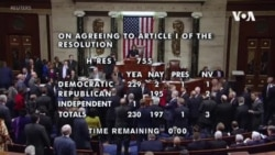 美國總統特朗普被眾議院彈劾