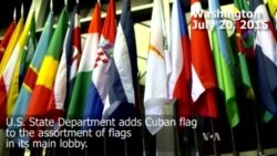 Cuban Flag Added at US State Department