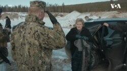 Прем'єр-міністр Норвегії проїхалася у бойовому танку разом із Королівською армією. Відео