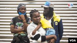 Migrantes haitianos en Necoclí, Colombia