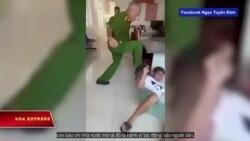 Tranh cãi vụ công an đạp mặt dân