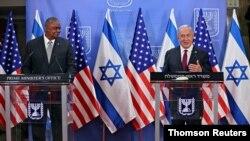 کنفرانس خبری بنیامین نتانیاهو و لوید آستین روز دوشنبه در اسرائیل