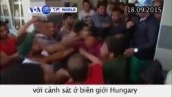 Di dân ẩu đả với cảnh sát ở biên giới Hungary (VOA60)