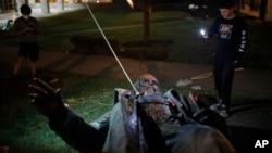 2020年6月20日,首都華盛頓唯一的一座南北戰爭時期南方邦聯派克將軍的雕像被推倒。