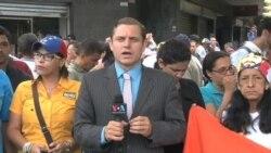 Oposición venezolana continúa protestando