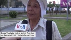 Ciudadanos opinan sobre Cumbre de las Américas en Lima