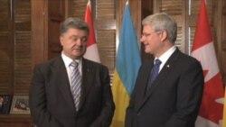 Poroshenko llega a Canadá