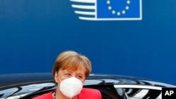 Nemačka kancelarka Angela Merkel na letnjem samitu Evropske unije u Briselu 20. jula 2020.