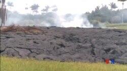 2014-10-28 美國之音視頻新聞: 夏威夷火山岩漿威脅數十幢房屋