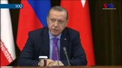 """Erdoğan:""""Ateşkes için atılan adımları gözden geçirdik"""""""