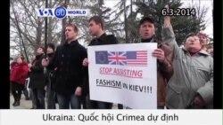 Dự định trưng cầu dân ý sáp nhập Crimea vào Nga (VOA60)